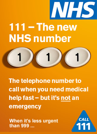 NHS Non-Emergency Number - Call 111